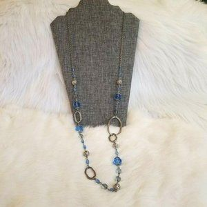 Lia Sophia Blue Abstract Necklace 1629